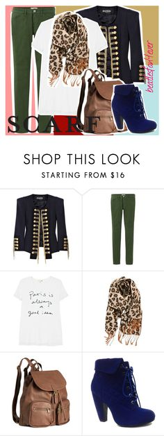 """""""i am so procrastinating"""" by beatlesfan4ever ❤ liked on Polyvore featuring Balmain, Uniqlo, Sundry, BP., H&M and Bamboo"""