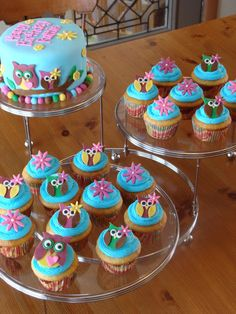 owl cakes and cupcakes - Google Search