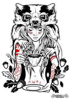 'Awfully Good Apparel' by Krysten Newby, via Behance Like the b/w white color accents