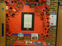 remembrance day school library display - Google Search Reading Display, School Library Displays, Remembrance Day, Library Ideas, Education, Google Search, Frame, Picture Frame, Anniversaries