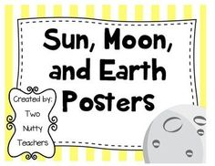 "FREEBIE!! These posters are used in our classroom on a daily basis as we move through our Space Unit. We call up three students a day to ""act out"" the movement of the Earth and Moon in relationship to the Sun. While the students are demonstrating, we have a perfect opportunity to review and reinforce key concepts from the unit. ENJOY!!"
