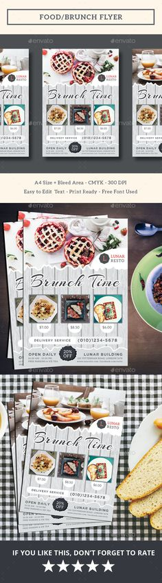Food/Brunch Flyer — PSD Template • Only available here ➝…