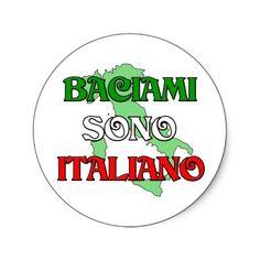 Baciami Italiano (Kiss Me I'm Italian) Sticker by claybuster