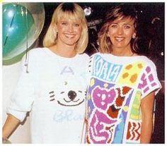 Olivia Newton-John and Pat Farrar, launching of their store Koala Blue.