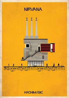 Architectural Drawing Patterns ARCHIMUSIC: Illustrations Turn Music Into Architecture,Courtesy of Federico Babina - Image 21 of 28 from gallery of ARCHIMUSIC: Illustrations Turn Music Into Architecture. Photograph by Federico Babina Architecture Panel, Architecture Images, Architecture Portfolio, Amazing Architecture, Architecture Posters, Art Nirvana, Historia Do Rock, Classic Songs, Graphic Design Illustration