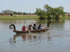 Cardboard Viking Longship and Cardboard Boat Regatta by KentsOkay