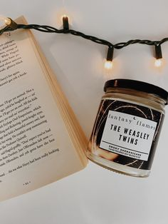 Fred Weasley and George Weasley Candle - Harry Potter Candles Glass Jars, Candle Jars, Harry Potter Candles, Weasley Twins, Fall Candles, Mischief Managed, Burning Candle, Scented Candles, Gift Ideas