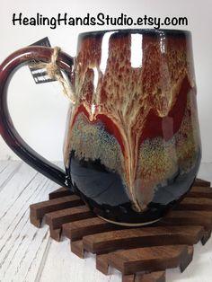 This is a handmade, wheel thrown pottery mug. Glazes For Pottery, Pottery Mugs, Ceramic Pottery, Pottery Art, Ceramic Art, Pottery Ideas, Ceramic Glaze Recipes, Ceramic Coffee Cups, Coffee Mugs