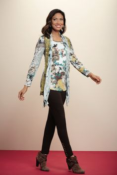 Paisley and floral design combines in this layered crochet look!