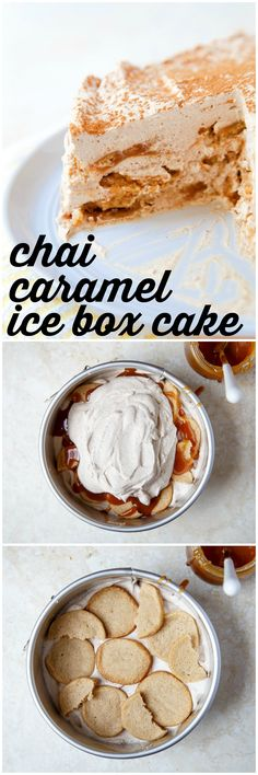 Chai ice box cake with homemade salted caramel sauce and homemade gingersnaps. The real deal ice box cake! @DessertForTwo