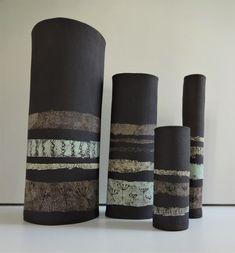 Ceramic Decor, Ceramic Art, Natural Sponge, Hand Built Pottery, Black Clay, Contemporary Ceramics, Ceramic Flowers, Sell Items, Flower Vases