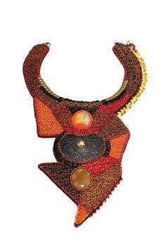 Oversized tribal ethnic necklace collar large by RasaVilJewelry