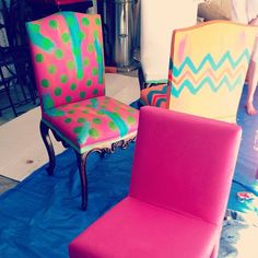 Clients chairs in progress with @lulu_lucky @sarahjmcphee.