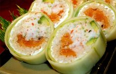 Paneer Stuffed Cucumber Roll