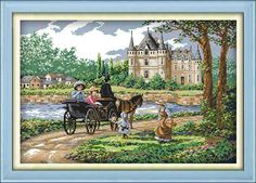 Suburban scenery Printed on Canvas DMC Counted Chinese Cross Stitch Kits printed Cross-stitch set Embroidery Needlework