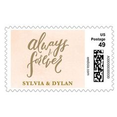 Who knew postage stamps could be personalized? Add some seriously sweet customization to your wedding by giving your guests something to remember right on the envelope of your invites and thank you cards! | Forever Laced Personalized Postage via @weddingpaper