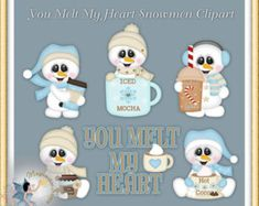 Christmas Clipart Holiday Winter Snowman You by MagicmakerScraps Penguin Clipart, Snowman Clipart, 2 Clipart, Christmas Clipart, Calendar Stickers, Mural Wall Art, Candy Wrappers, Checkbook Cover, Paint Shop