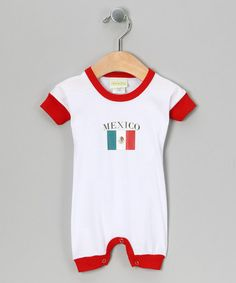 Red Mexico Romper by PAM SoccerFanApparel on #zulily