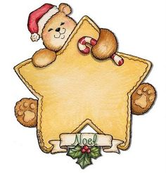 Teddy with star - great area for card sentiment