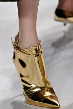 J. Mendel Fall 2012 | reminds me of the iconic Patsy Cline album cover~  little gold booties, or was it pants?