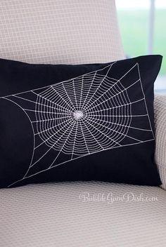 Spiderweb Pillow Cover Elegant Spiderweb Decor Black Creepy Chic Halloween Decor 12x16 Halloween Pillow