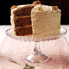 This coffee and walnut layer cake recipe from BakingMad.com is a classic. Three layers give you an excuse to add even more of this delicious coffee icing!
