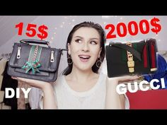 Don't need to spend money on Gucci, if you can make it at home! *You can paint any design you like and you'll have a unique beautiful bag! Beautiful Bags, You Bag, Suitcase, Gucci, Shoulder Bag, Videos, Youtube, Diy, Fashion