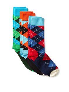 Some colorful man socks seems like a fun way to change it up. Crazy Socks, My Socks, Socks Men, Sharp Dressed Man, Well Dressed Men, Fashion Socks, Mens Fashion, Socks World, Argyle Socks