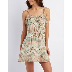 Tie-Front Paisley Print Skater Dress