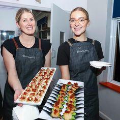 Our beautiful catering staff - canapés galore! Tomato Basil Salad, The Italian Job, Seared Tuna, Rabbit Cake, Salad Topping, 1st Birthdays, Catering, Sweet, Beautiful