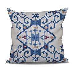 E by Design Jodhpur Medallion 2 Geometric Print 20-inch Throw Pillow