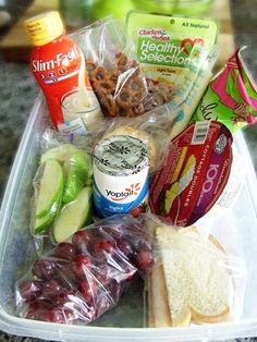 "100 calorie snacks - eat only what's in your ""goodie box"" during the day."