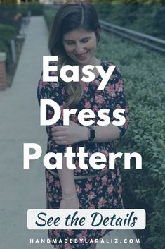 Very beginner friendly this knit dress pattern is a fast sewing project when you want something new to wear fast. The scoop neck three quarter length style make it great for Spring outfits. Easy Sewing Projects, Sewing Projects For Beginners, Sewing Tutorials, Sewing Tips, Sewing Stitches, Sewing Patterns, Sewing Machine Tension, Simple Dress Pattern, Sew Your Own Clothes
