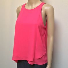 Cremieux Pink Top Pretty in pink! 🌸🎀💗 Asymmetrical top. 100% Polyester. Cremieux Tops