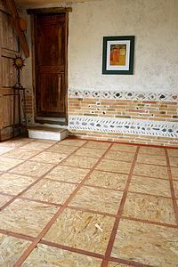 Osb floor diy projects pinterest ceiling and porch for Carrelage facon parquet
