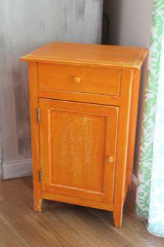 Orange Cabinet   Boho Chic   Fun Color   Distressed Islandgypsymaui.com