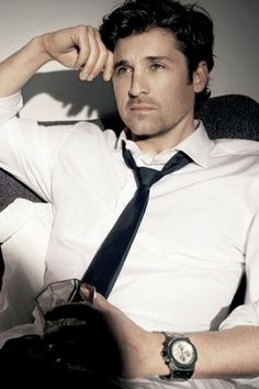 Patrick Dempsey There is a very very small family resemblence to my husband - very very small!!! they eye brows!!!