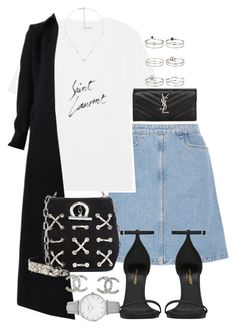 """Unbenannt #1216"" by flytotheunknown ❤ liked on Polyvore featuring M.i.h Jeans, Yves Saint Laurent, Alaïa, Alexander Wang, Chanel, Gucci, Topshop and Miss Selfridge"