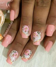 Fancy Nails, Pink Nails, Pretty Nails, Beautiful Nail Designs, Beautiful Nail Art, Fabulous Nails, Perfect Nails, Spring Nail Art, Stamping Nail Art