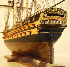 HMS Agamemnon model ship Stern Detail