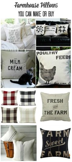Farmhouse Style Pillows you can DIY or Buy for under $25 #affiliate | www.knickoftime.net