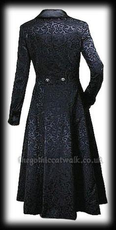 Plus Size Black Damask Fitted Gothic Frock Coat - Historical Clothing Gothic Coat, Gothic Lolita, Victorian Fashion, Gothic Fashion, Look 2017, Frock Coat, Cool Outfits, Fashion Outfits, Fashion Corner