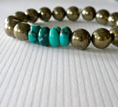 Smooth Round Pyrite Stones and Natural by ChristinesBaubles, $32.00