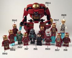 All the general release Lego ironman armours - Trend lego Characters 2019 Lego Custom Minifigures, Lego Minifigs, Iron Men, Lego Marvel's Avengers, Lego Batman, Lego Ironman, Van Lego, Lego Mosaic, Lego Videos