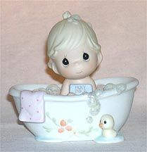 Enesco Precious Moments Figurine - He Cleansed My Soul