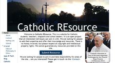 A good site which has gathered Catholic RE resources in one place.