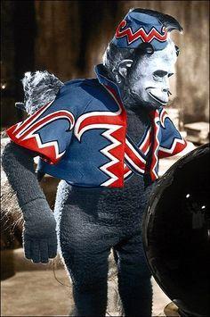 Halloween Stencil~FLYING MONKEYS GUARD THIS HOUSE~Crazy Oz Monkeys Security