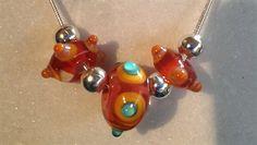 Murano Glass Necklace - 'Orangenee'