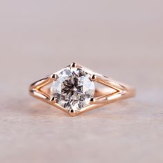 The Gorgeous And Ethical Heroine Accented Engagement Ring Pictured
