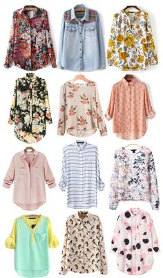 Pretty spring blouses under $20